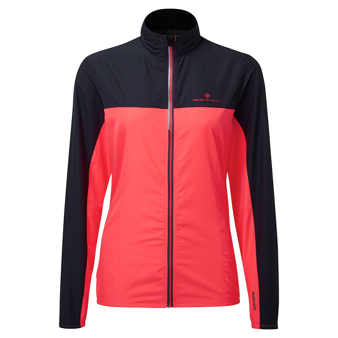 Ronhill Women Stride Windspeed Jacket Hot Pink/Charcoal