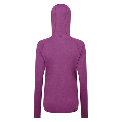 Ronhill Women Momentum Workout Hoodie Grape Juice/Hcoral