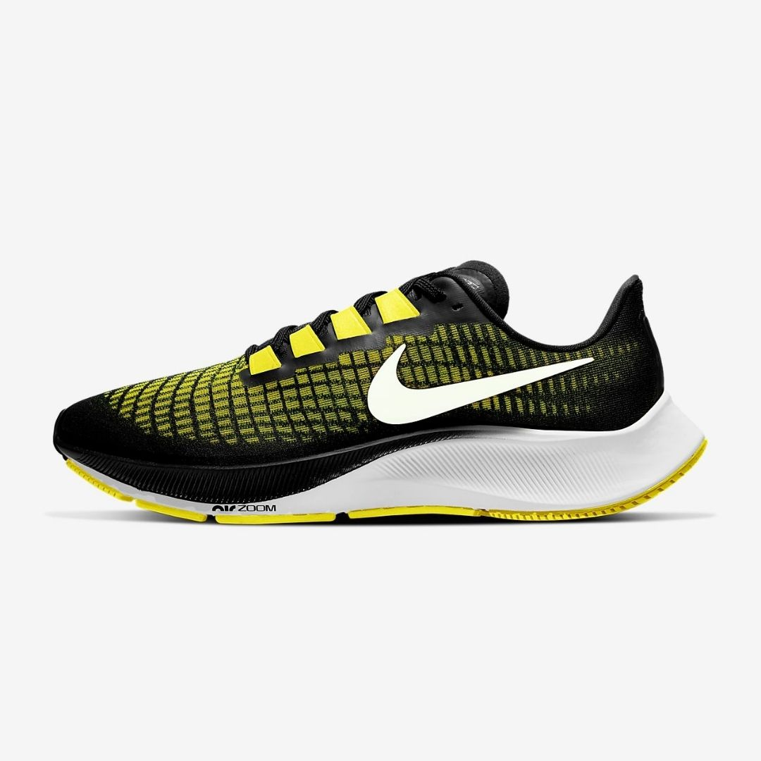Nike Air Zoom Pegasus 37 Men Black Yellow