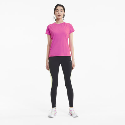 Run Graphic SS Tee Luminous Pink