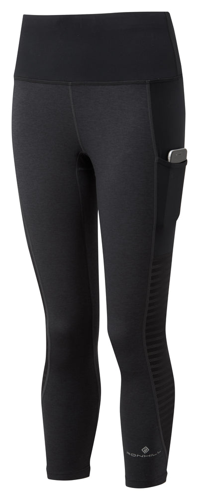 Ronhill Women Momentum Sculpt Crop Tight Charcoal Marl/Black