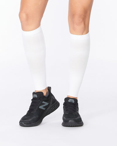 2XU Badminton X Compression Calf Sleeves Unisex White