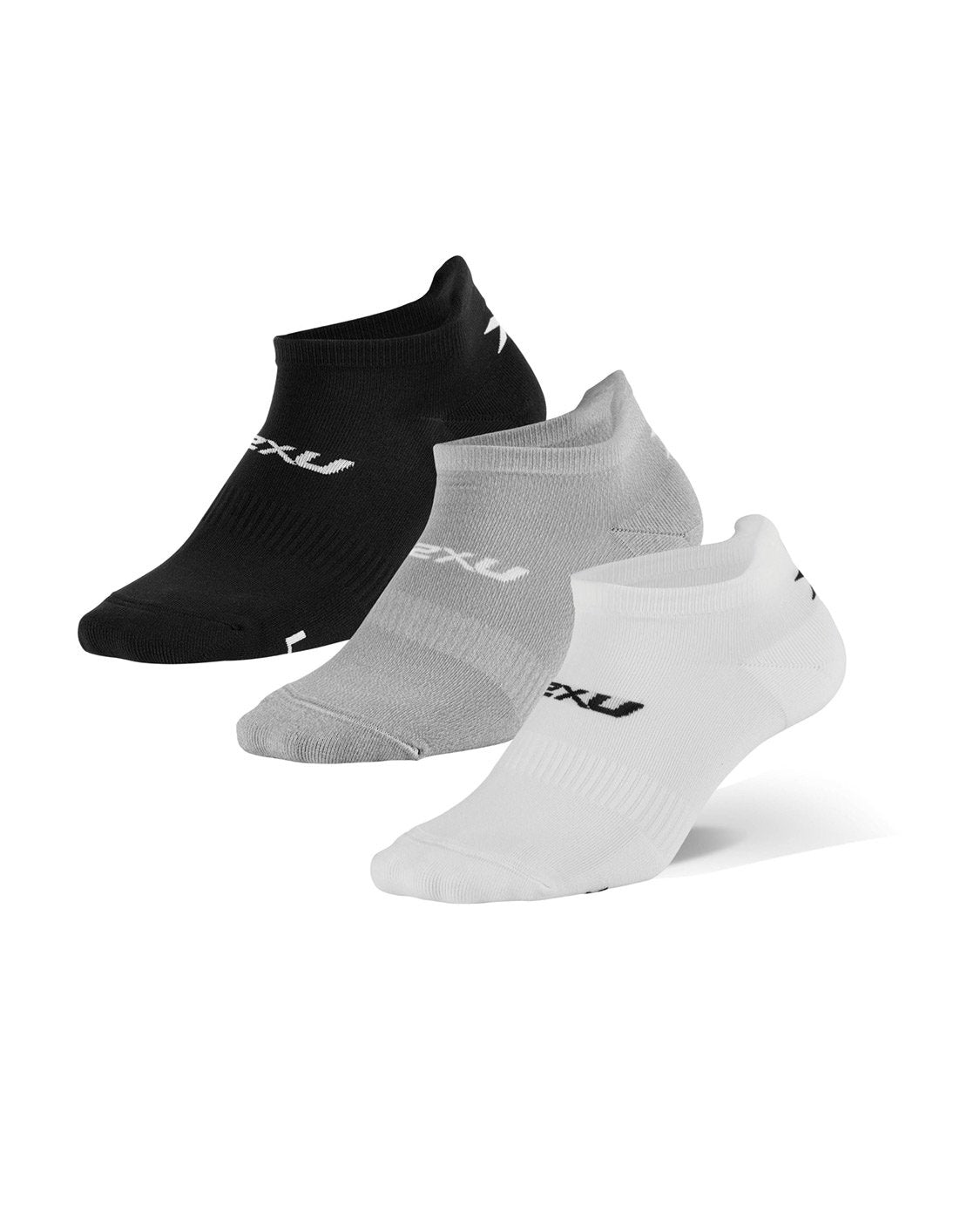 2XU Ankle Sock 3 Pack Unisex Three/Colour