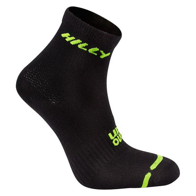 Hilly Men's Lite Anklet Running Socks - Black Accessories Hilly