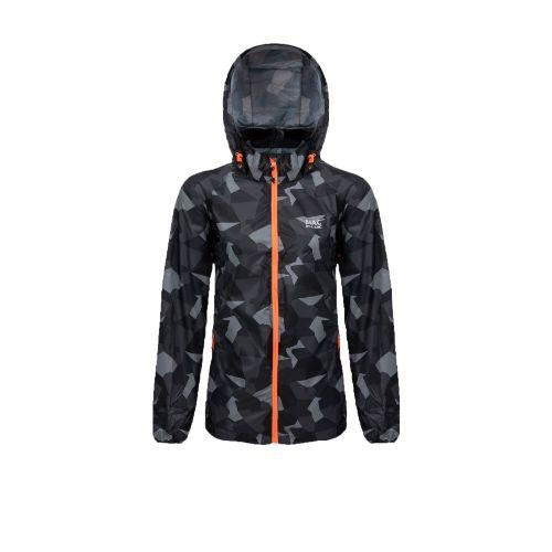 MIAS Edition Unisex Waterproof Packable Jacket - Black Camo Apparel - Unisex Mias