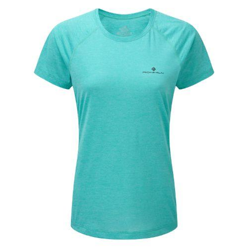 Ron Hill Wmn's Momentum S/S Tee Peacock Marl Apparel - Women Ronhill