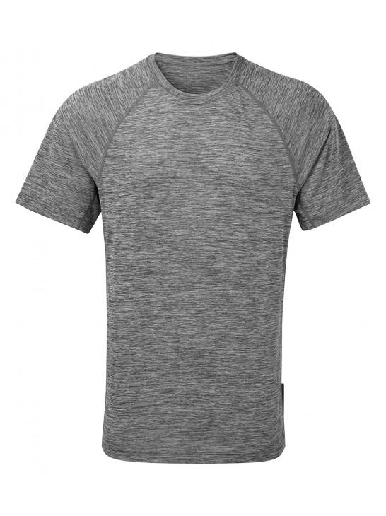 Ronhill Men Momentum S/S Tee Grey Marl Apparel - Men Ronhill