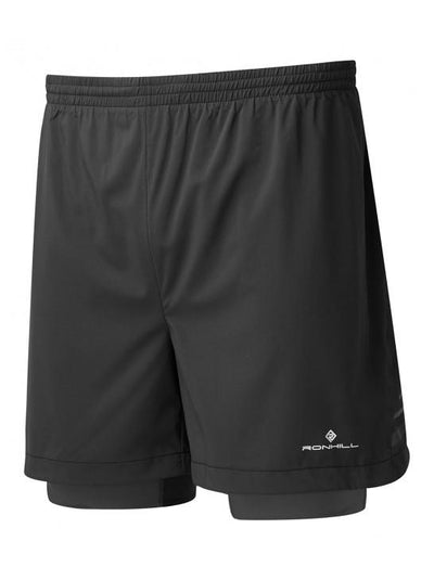 Ronhill Mens Stride Twin 5i Short Black/Charcoal/Fyel Apparel - Men Ronhill