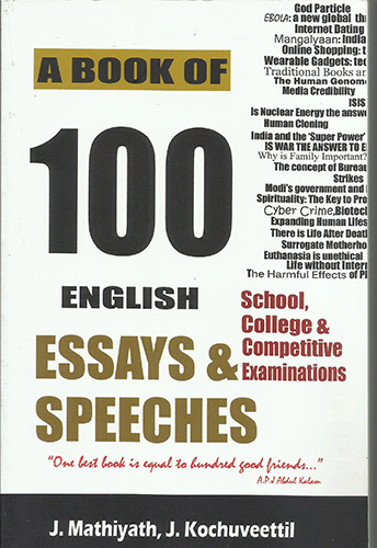 A BOOK OF 100 ENGLISH ESSAYS AND SPEECHES - sophiabuy