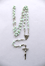 SMALL LIGHT GREEN ROSARY - sophiabuy