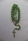 CRYSTAL GREEN ROSARY