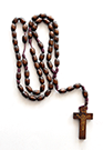 LARGE OVAL WOODEN ROSARY (DARK BROWN) - sophiabuy