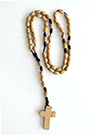 LARGE OVAL WOODEN ROSARY (BURLYWOOD) - sophiabuy
