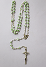 WHITE AND GREEN ROSARY