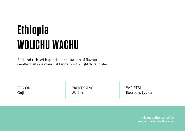 Single Origin Filter - Ethiopia  Wolichu Wachu