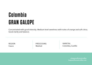 Single Origin Filter - Colombia Gran Galope