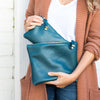 ABBEY CLUTCH | TEAL