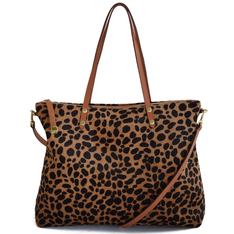 CARRY ALL | BROWN CHEETAH