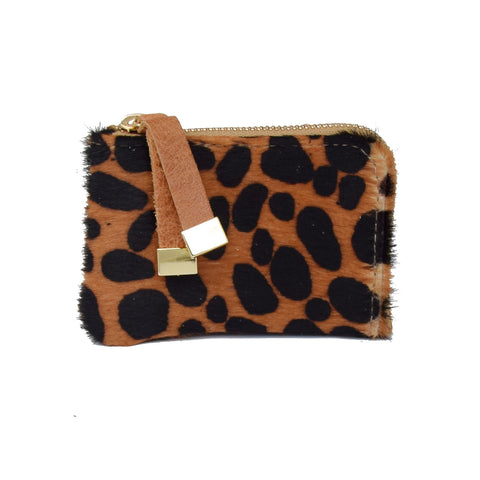 ZIP WALLET |  BROWN CHEETAH