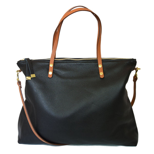 Carry All | Black with Tan Straps