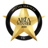 2018 Winner Victorian Australian Bridal Industry Award