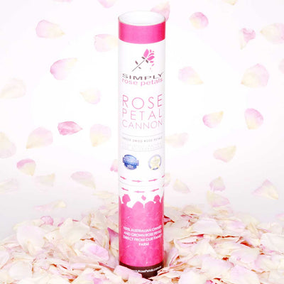 Pink and White Freeze Dried Rose Petal Cannon