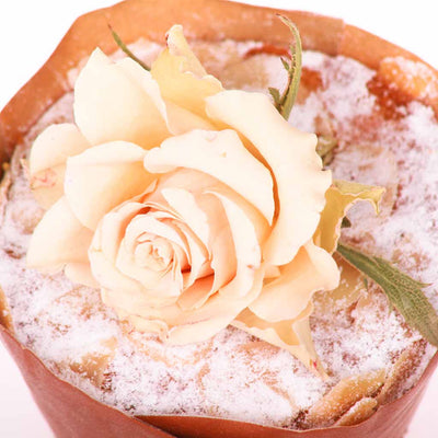 Dried Edible Rose Cupcake Decoration