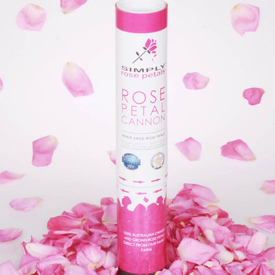 Pink Freeze Dried Rose Petal Cannon