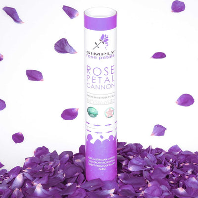 Dark Purple Freeze Dried Rose Petal Cannon