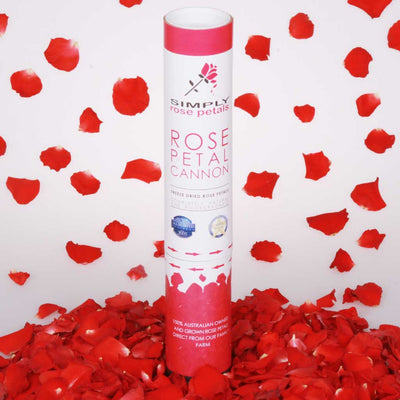 Bright Red Freeze Dried Rose Petal Cannon