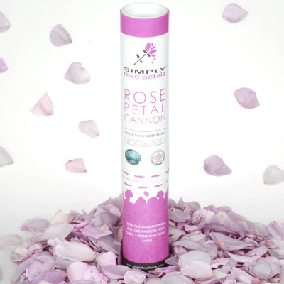 Blue Lilac Freeze Dried Rose Petal Cannon