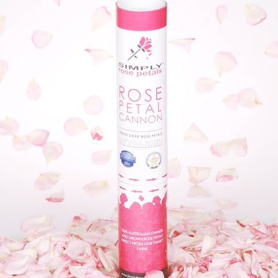Strawberry Pink Freeze Dried Rose Petal Cannon