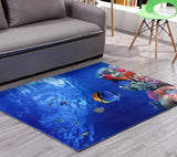 Tapis de salon mer mis en situation