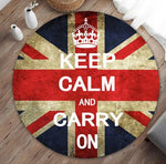 Tapis rond angleterre keep calm and carry on