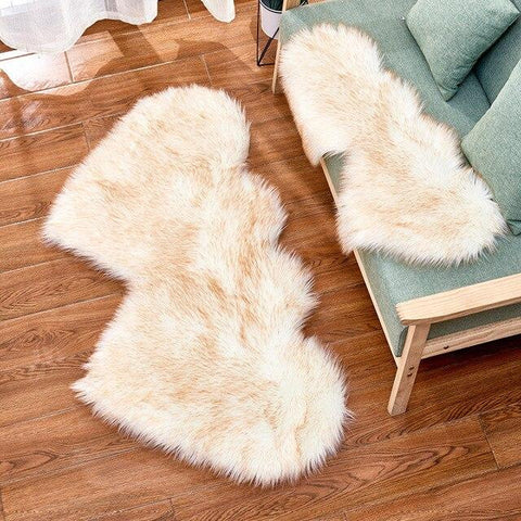 Tapis Chambre Fille<br> Shaggy Coeur