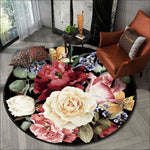 Tapis rond floral