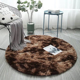 tapis rond de salon couleur marron