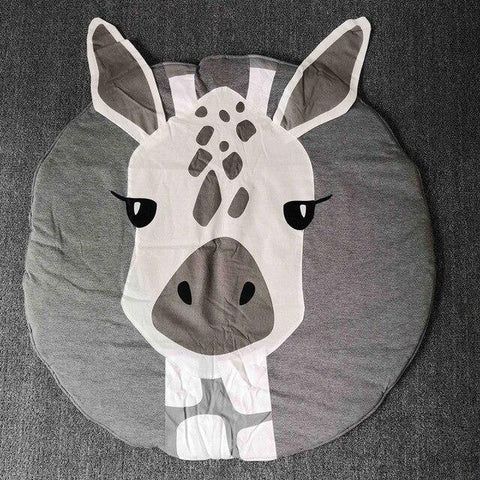 ce fameux tapis rond moelleux girafe