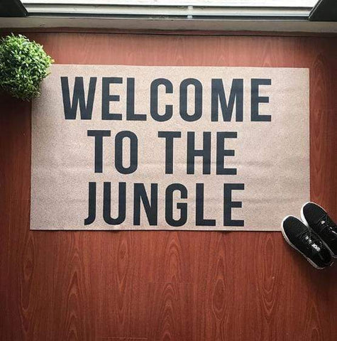 Photo mise en situation du tapis welcome to the jungle