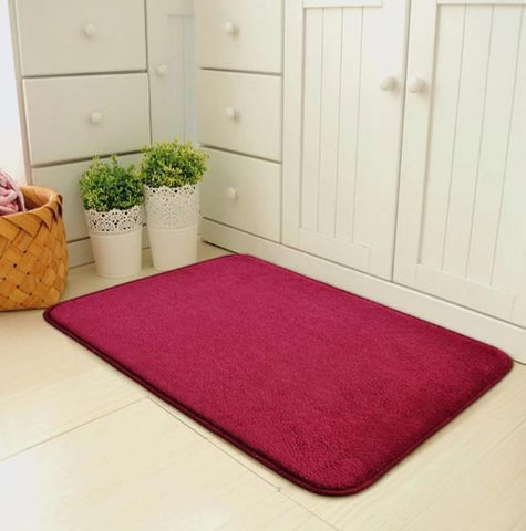 Tapis ultra absorbant rouge d'entrée