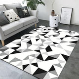 Tapis de salon motif triangle