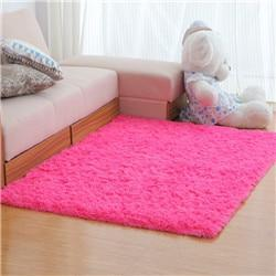 tapis de salon de couleur rose
