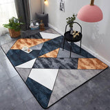 tapis de salon contemporain motif géométrique