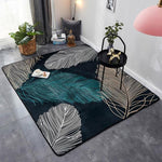 tapis de salon contemporain et design style plume