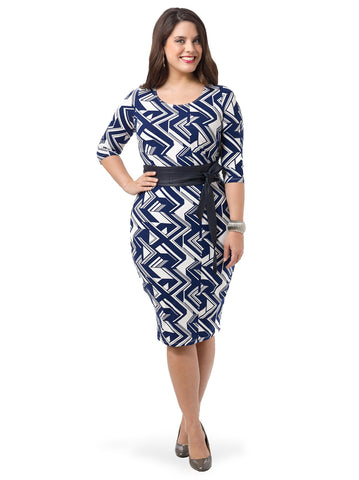 Zigzag Bodycon Dress