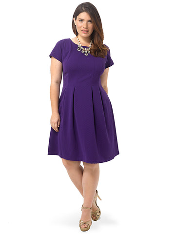 Fit & Flare Dress In Orchid