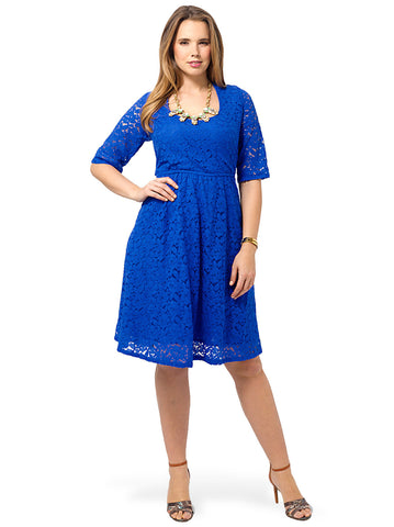 Harlow Lace Dress In Blue