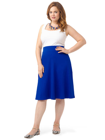 Knit Skirt In Cobalt Blue