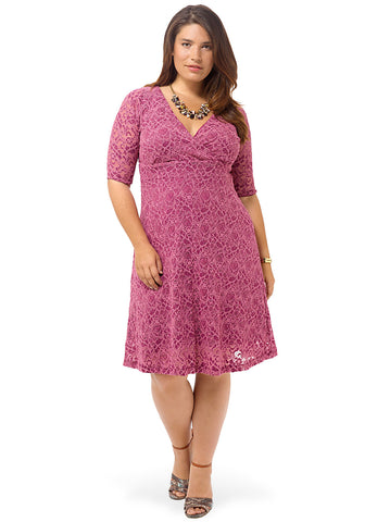 Raspberry Sorbet Lace Dress