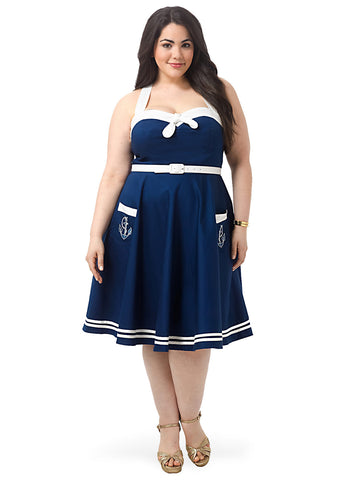 Siren Navy Dress